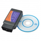 OBDII Bluetooth Car Diagnostic Cable - Negro + Azul + Naranja (DC 12V)