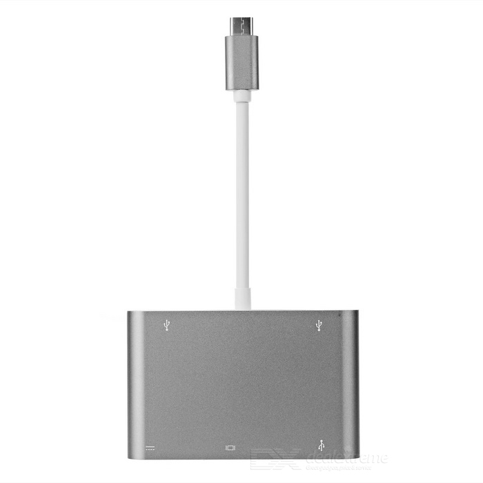 USB 3.1 Type C to USB 3.1, VGA, USB 3.0, USB 2.0 Adapter Cable - Grey