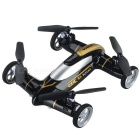 Syma X9A 2.4GHz 4-CH Fly & Drive Air-Ground Remote Control Quadcopter / Flying Car - Black + Golden