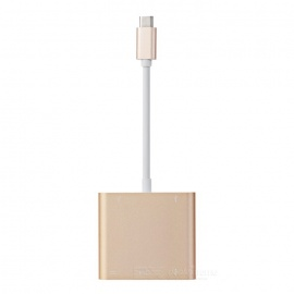 USB 3.1 Type C to USB 3.1,HDMI,USB Adapter Cable - Champagne (DP Mode)