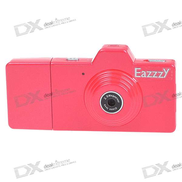 Stylish USB 2.0 Rechargeable Mini Screen-Free Video Camera - Red (TF Slot)