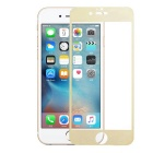 Full Covering Plating Mirror Termpered Glass Screen Protector for IPHONE 6 / 6S - Tansparent + Gold