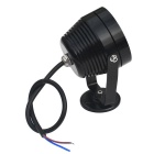 6W 6-LED Underwater Spotlight Lamp Warm White Light 3200K - Black