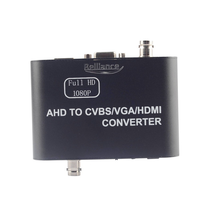 Relliance AHD to HDMI / VGA / CVBS Converter - Black