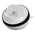 Universal USB 3.1 Type C to USB 2.0 Charging Dock Station Stand for Cellphone - White + Black