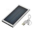 3000mAh Solar Power Bank w/ LED, Flashlight for IPHONE / IPOD - Silver