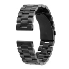 Replacement Stainless Steel Watch Band Watchband for Motorola MOTO 360 2 46mm - Black
