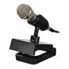 PC-13 Portable 3.5mm Wired Mini Condenser Unidirectional Microphone Mic for Karaoke / PC / Cellphone