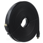 V1.4 1080P HDMI Male to Male Flat Video Cable - Black (20m)