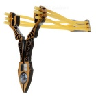 Outdoor Sharp Knife Shaped Sporting Slingshot - Bronze