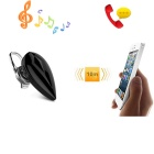 Mini in-ear fone de ouvido bluetooth inteligente w / voz prompt - preto