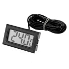 Buy 1.5 inch Digital Thermometer 2m Waterproof Sensor - Black (-50~+110'C)