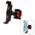 Bike Bicycle Handlebar Diagonal Mount Holder for Cellphone - Black + Red