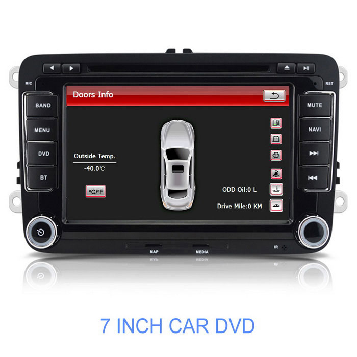"7"" Win CE 6.0 Car DVD Player w/ GPS, BT, EU Map for Polo, Golf + More"