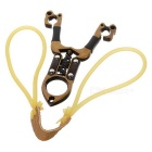 Outdoor Small Dragon Shaped Sporting Slingshot - Bronze + Black