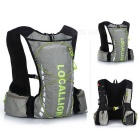 LOCAL LION Outdoor Cycling Hiking Water-Resistant Shoulders Bag Backpack - Grey + Green (20~25L)