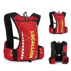 LOCAL LION Outdoor Cycling Hiking Water-Resistant Shoulders Bag Backpack - Red + Green (20~25L)