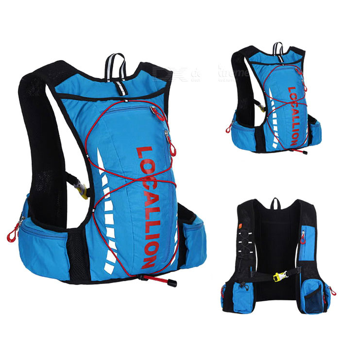 LOCAL LION Cycling Backpack / Hiking Fishing Bag - Blue + Red (20~25L)Bike Bags<br>Form  ColorBlue + RedModelN/AQuantity1 DX.PCM.Model.AttributeModel.UnitMaterialPolyester + water-resistant fabricTypeOthers,Cycling bagCapacity20~25 DX.PCM.Model.AttributeModel.UnitWaterproofYesGenderUnisexBest UseCycling,Mountain Cycling,Recreational Cycling,Road CyclingCertificationCEPacking List1 x Backpack<br>
