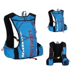 LOCAL LION Outdoor Cycling Hiking Water-Resistant Shoulders Bag Backpack - Blue + Red (20~25L)