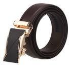 Fanshimite J11 Men's Automatic Buckle Leather Belt - Brown (110cm)