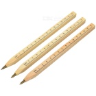 Wooden Ballpoint Pen / Ruler - Wood Color (3PCS)