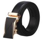 Men's Automatic Buckle Belt Split Leather Floor - Black (160cm)