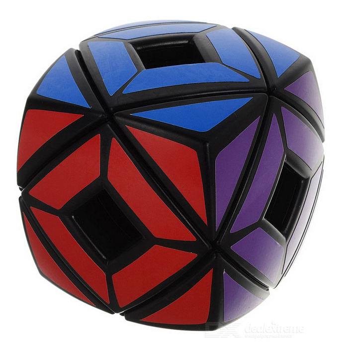 Irregular Hollow Bread Estilo Magic IQ Cube - Preto + Multicolor