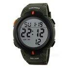SKMEI 50m Waterproof Men's Sports Watch - Army green