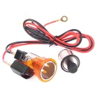 12V Car Orange Cigarette Lighter Power Adapter Socket Plug Outlet for Dongfeng Peugeot 405