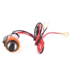 Car Power Socket w/ Cigarette Lighter for Dongfeng Peugeot 405 -Orange