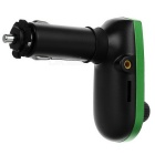 "QR7 1.2"" Car FM Transmitter Player w/ Charger, Green Light, TF - Green"