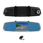 "120' Wide Angle 4.3"" TFT CMOS Car DVR w/ Dual Camera, Motion Detection, Microphone, Anti-Shake"