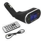 Wireless Bluetooth FM Transmitter Adapter Handsfree Car Kit - Black