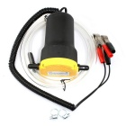 12V Oil Diesel Fluid Transfer Pump for Car Motorbike - Yellow + Black