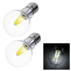 JRLED E27 4W 4-COB LED Globe Bulb Lamp White Light 6450K 500lm (AC 85~265V / 2PCS)