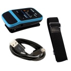 "Smart Sports MP3 Music Player Bracelet w/ 1.41"" TFT 8GB Memory - Blue + Black"