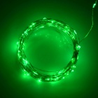 USB Powered 3W 250lm 560nm 50-SMD 0603 LED Green Light Strip - Silver + Black (DC 5V / 5M)