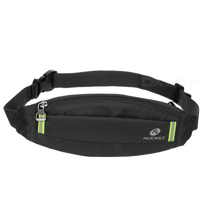 NUCKILY PM10 Waterproof Outdoor Sport Running Nylon Waistbag - Black