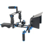 YELANGU D211 Shoulder Mount + Follow Focus + Matte Box + Camera Cage DSLR Rig Kit - Black + Blue