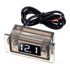 12~24V Waterproof Motorcycle Digital Voltmeter w/ White LED Light