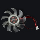Jtron DC 12V 0.18A 5.3cm Cooling Fan - Transparent
