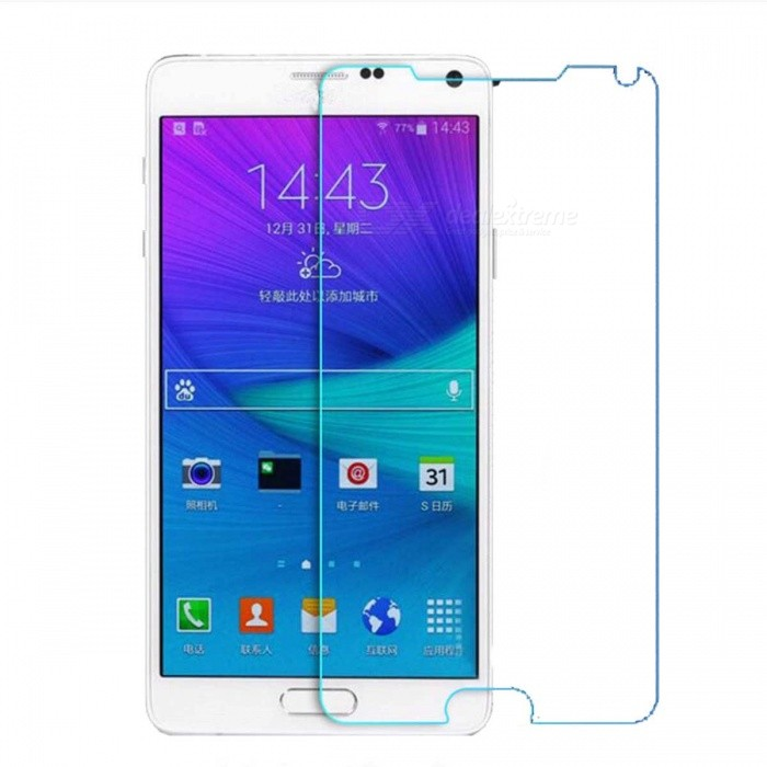 Mokin Tempered Glass Screen Protector for Samsung Note 4 - Transparent