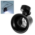 MG13B-9A 20X Magnification Magnifier w/ LED Light for Watch & Clock Repair - Black (1 x CR1620)