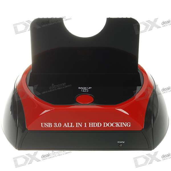 "USB 3.0 HDD Docking Station for All 2.5""/3.5"" SATA HDD (Super-Speed 5Gbps)"