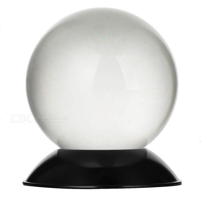 6cm Clear Magic Prop ABS Crystal Ball Sphere - Transparent