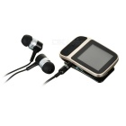 "1.41"" TFT MP3 Player w/ Pedometer / Voice Recorder / FM / 8GB RAM - Black + Champagne Gold"