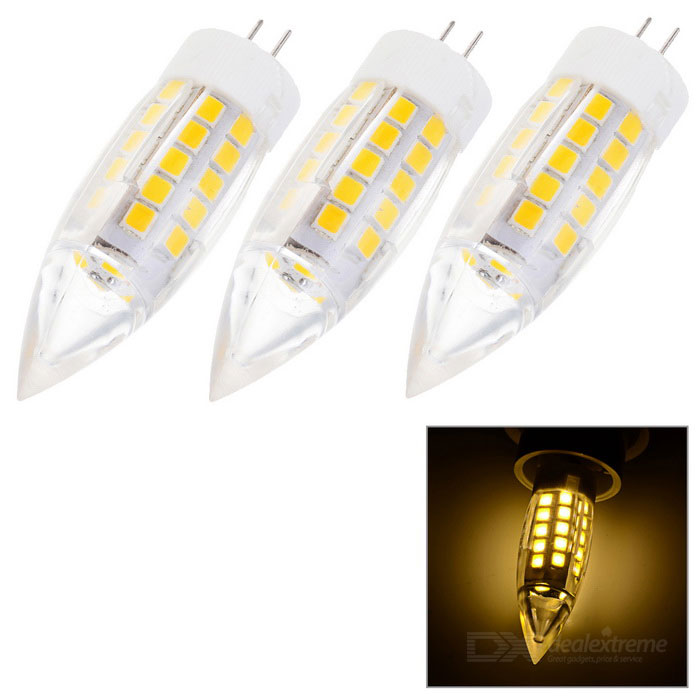 G4 5W LED bulbo lámpara luz blanca caliente 541lm 44-SMD bullet shape (3PCS)