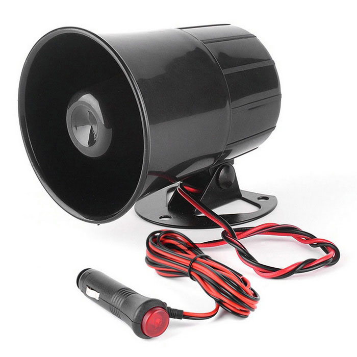 IZTOSS Car Motorcycle Horn Loudspeaker Horn Modification Parts - Black