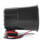 12V Car Van Truck 6 Tone Loud Security Alarm Siren Horn - Black