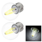 JRLED E27 4W 4-COB LED Mini Globe Bulb Lamp Cool White Light (2PCS)